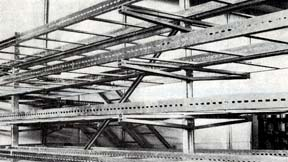 1970 Cable racks and support brackets